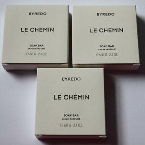 3 BYREDO Le Chemin Travel Bar Soap Set Lot